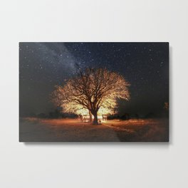 African Tree Under Stars Metal Print