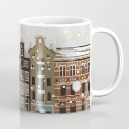 Amsterdam in the snow Coffee Mug