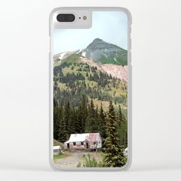 Country Schoolhouse at the Gold Rush Idarado Mine Clear iPhone Case