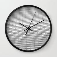 gray pattern Wall Clocks featuring Gray Pattern by theGalary