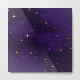 Halloween Galaxy Metal Print