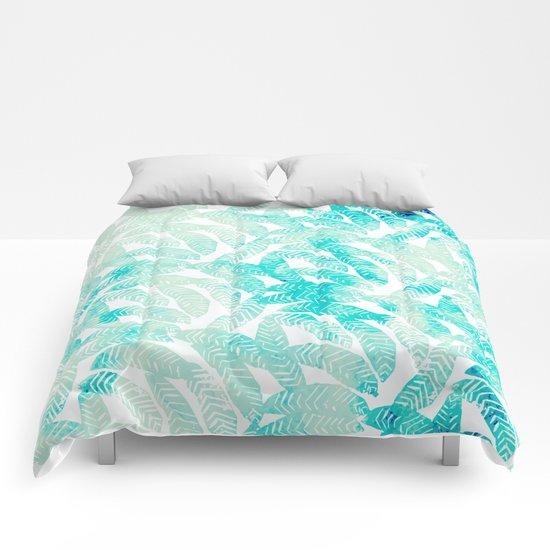 Painted Leaf Evolution #society6 #decor #buyart Comforters