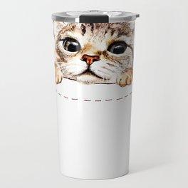 Pocket cat Travel Mug