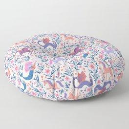 Fairy Folk Floral Floor Pillow