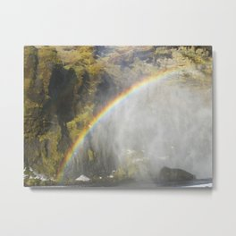 A Rainbow in Iceland Metal Print