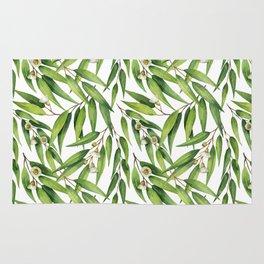 Exotic greenery pattern Rug