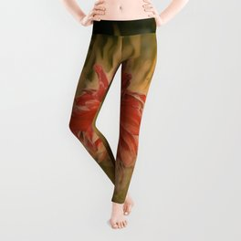 Hand painted vintage flower Leggings