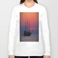 sailing Long Sleeve T-shirts featuring sailing by Claudia Otte ArtOfPictures