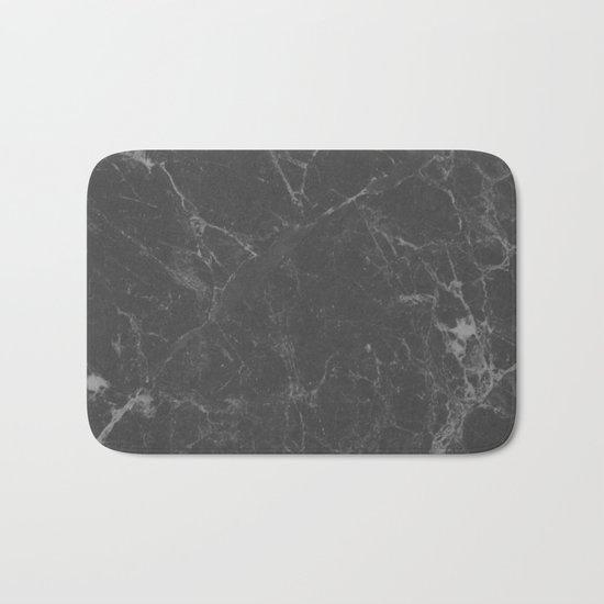 Marble Black Gray White Bath Mat