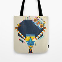 70s Tote Bags featuring 70s by Jaye Kang