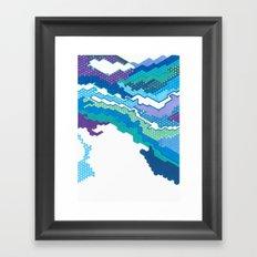 Geometric Landscape Framed Art Print