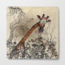 Sweet, cute giraffe Metal Print