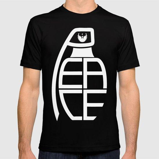 Peace Grenade Typography Print Black Edition T-shirt
