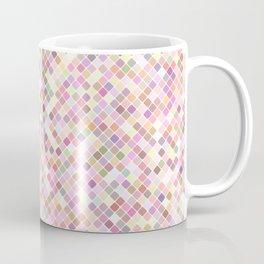 Happy Pastel Square Pattern Coffee Mug