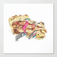 pie Canvas Prints featuring PIE by Gel Jamlang