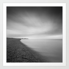 Aldeburgh Beach, towards Sizewell, Suffolk Art Print