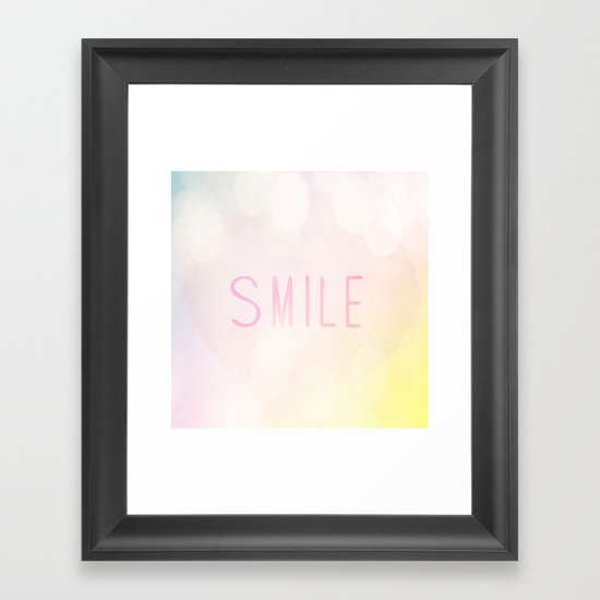 Smile a lot Framed Art Print