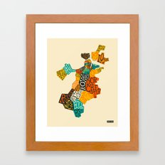 BOSTON NEIGHBORHOODS Framed Art Print