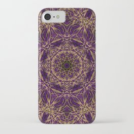Purple Mandala Hippie Pattern iPhone Case