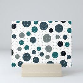 Scandinavian dots pattern design Mini Art Print