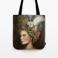 marie antoinette Tote Bags featuring Marie Antoinette by 8tephanie 8anchez