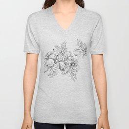 Orange tree branch - botanical illustration Unisex V-Neck