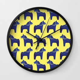 Dala Horse Pattern Wall Clock