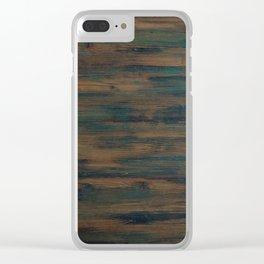 Beautifully patterned stained wood Clear iPhone Case