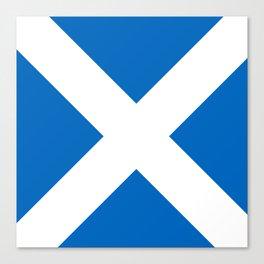 Scotland: Scottish Flag & Scotland Canvas Print
