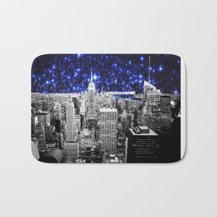 new york city. Blue Stars Bath Mat