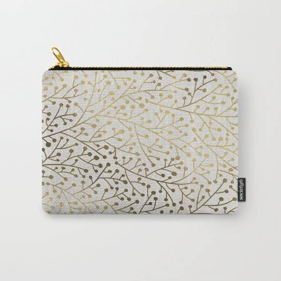 Gold Berry Branches Carry-All Pouch