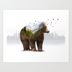 Wild I Shall Stay | Bear Art Print