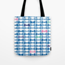 butterfly tie +blue Tote Bag