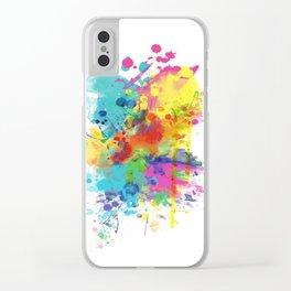 Splat Clear iPhone Case