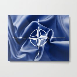 NATO Flag Metal Print