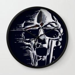 Doom Mask Melting Wall Clock