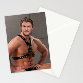 Christ Hemsworth in Leather ( Celebrity Imposter) Stationery Cards