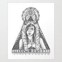 Her Gratitude Art Print