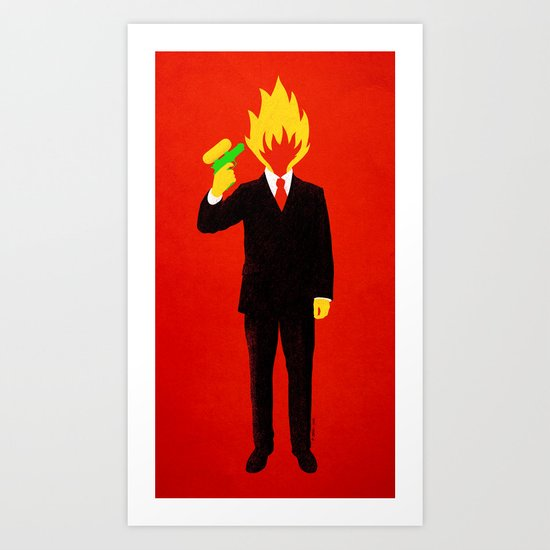The Tragic Death of Mr. Burns Art Print