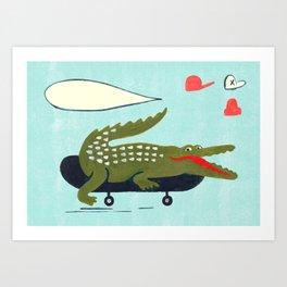 kroko Art Print