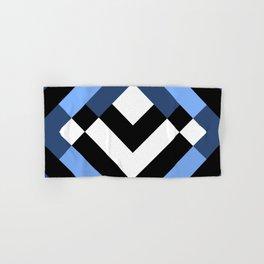Diamond Blue + Black Hand & Bath Towel