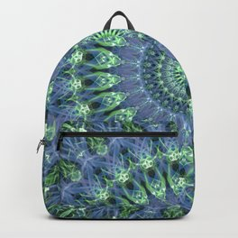 Mandala in light green and blue colors Backpack