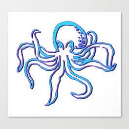 Neon Octopus Canvas Print