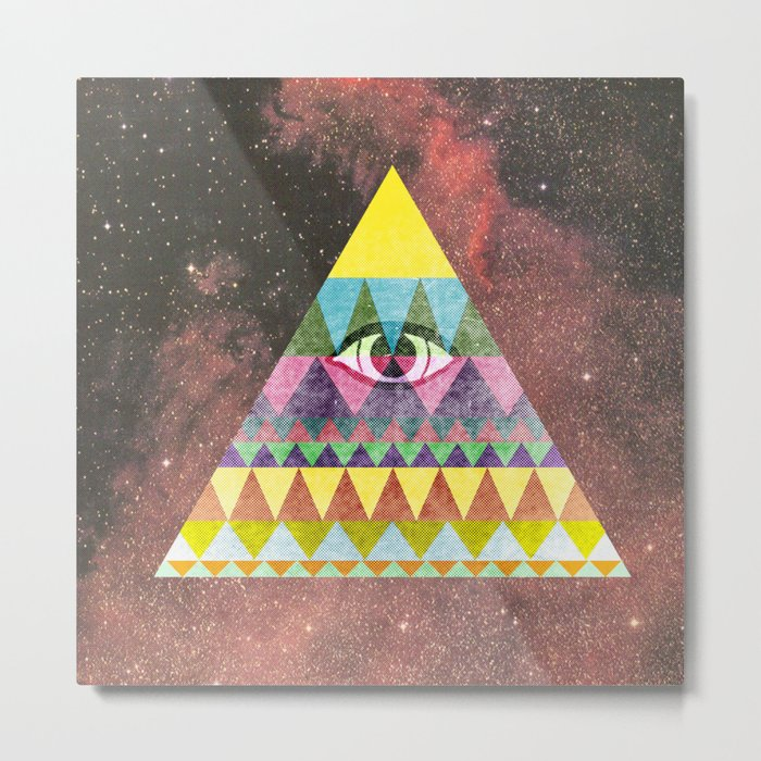 Pyramid in Space. Metal Print