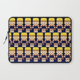 Basketball Burgundy, Navy Blue and Gold Laptop Sleeve