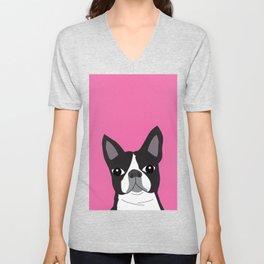 Boston Terrier Lilly Unisex V-Neck