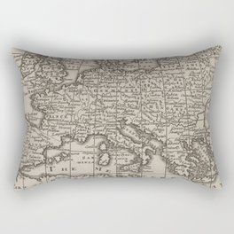 Vintage Map of Europe (1701) Rectangular Pillow