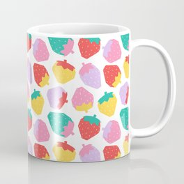 Minimalist Scandinavian Strawberries in White Coffee Mug
