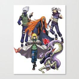 Shinobi Assembled x5 Canvas Print
