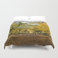 literary Duvet Covers featuring Central Park New York City by Vivienne Gucwa